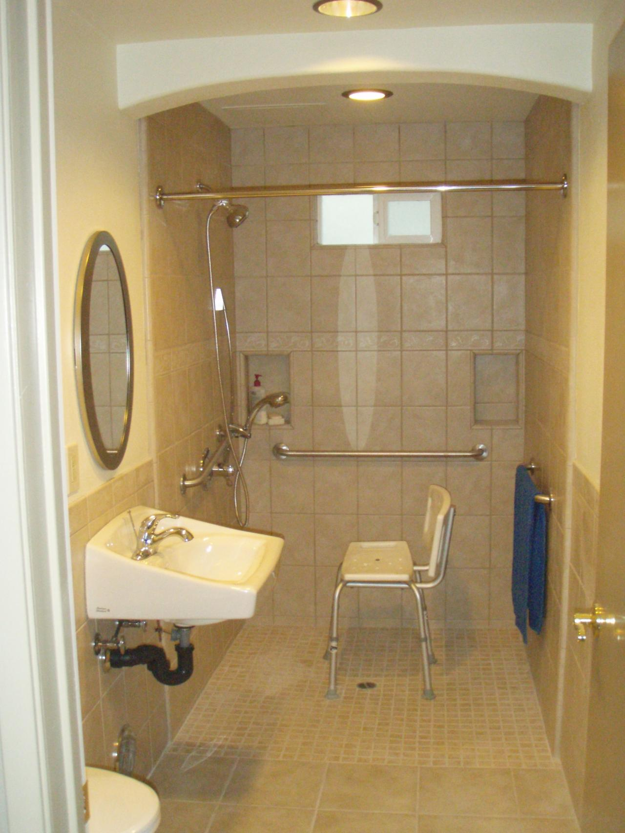 Prodan construction handicapped bathroom ms hayashi for Wheelchair accessible bathroom designs